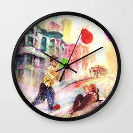 Clown in San Francisco Wall Clock