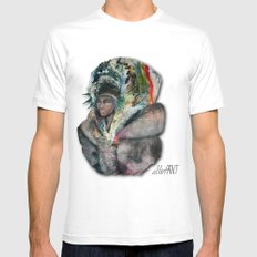 Warrior Portrait White Mens Fitted Tee MEDIUM