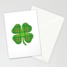 Plaid Shamrock Clover St Patrick's Day Green Stationery Cards