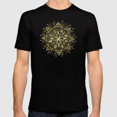 Mandala - Gold Black MEDIUM Mens Fitted Tee