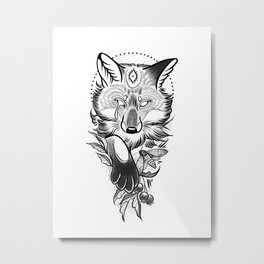 Crying fox Metal Print