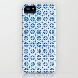 Blue Portuguese Tile Pattern iPhone Case
