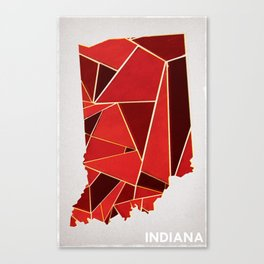 Indiana State  Canvas Print