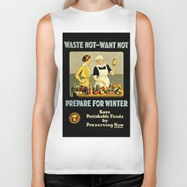 Waste Not Want Not Biker Tank