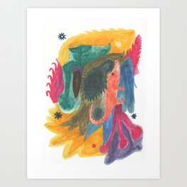Drawing #123 Art Print