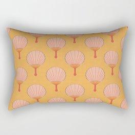 Orange and Pink Fan Pattern Rectangular Pillow