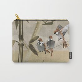 Spring Sparrows in Bamboo Tree Carry-All Pouch