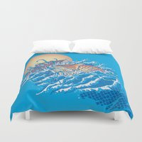 nemo Duvet Covers featuring The Lost Adventures of Captain Nemo by Don Lim