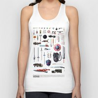 bands Tank Tops featuring Famous Weapons by Daniel Nyari