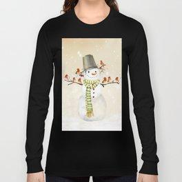 Snowman and Birds Long Sleeve T-shirt