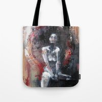 daryl Tote Bags featuring Daryl by Andrea Creates
