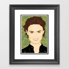 Emily Deschanel Framed Art Print