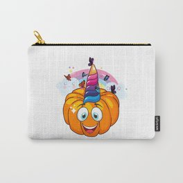 Unicorn Pumpkin Halloween with Butterfly Carry-All Pouch