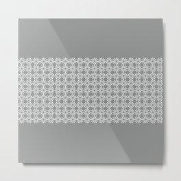 pahulje (gray) Metal Print