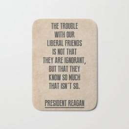 President Reagan Quote Bath Mat