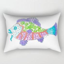funky fish Rectangular Pillow