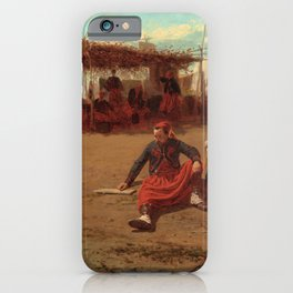 Winslow Homer1 - Pitching Quoits - Digital Remastered Edition iPhone Case