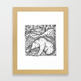 John Bauer Bear Framed Art Print