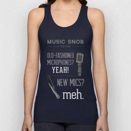Yeah or Meh: The Microphone — Music Snob Tip #101 Unisex Tank Top