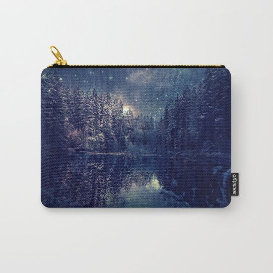 Winter Forest Deep Pastel Carry-All Pouch