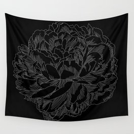 layer upon layer black Wall Tapestry