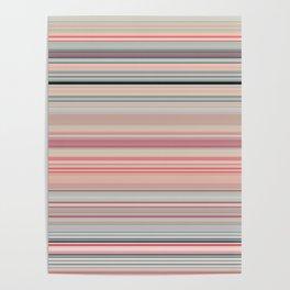 Pink Peach Pastel Stripe Design Poster