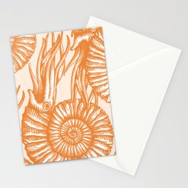 AMMONITE COLLECTION ORANGE Stationery Cards