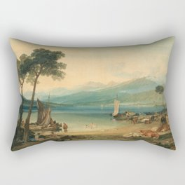 """J.M.W. Turner """"Lake Geneva and Mount Blanc"""" Rectangular Pillow"""