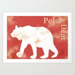 Animals Illustration - Polar Bear Art Print