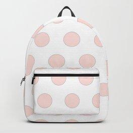 blush pink polka dots Backpack