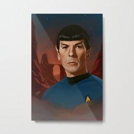 Mr. Spock Metal Print