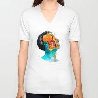 ford V-neck T-shirts featuring Anatomy [Ellis+Ford] by Alvaro Tapia Hidalgo