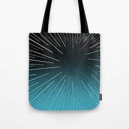 Circular Linear Aqua Tote Bag