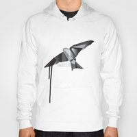 swallow Hoodies featuring Swallow by Molnár Roland