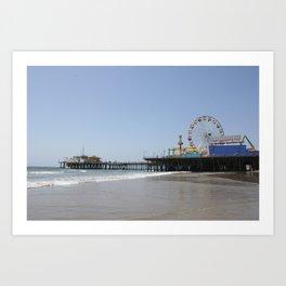 Santa Monica Pier in Los Angeles, California Art Print