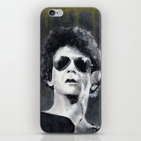 lou reed iPhone & iPod Skins featuring Lou Reed by Vikki Sin