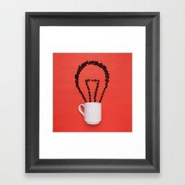 Coffee idea Framed Art Print