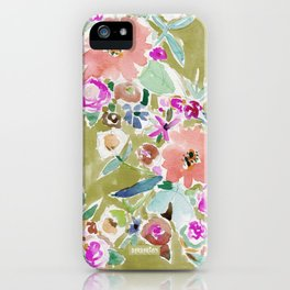 K.I.S.S. Colorful Floral iPhone Case