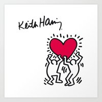 keith haring Art Prints featuring Keith Allen Haring Shirt by cvrcak