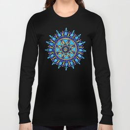 Royal Blue Mandala Long Sleeve T-shirt