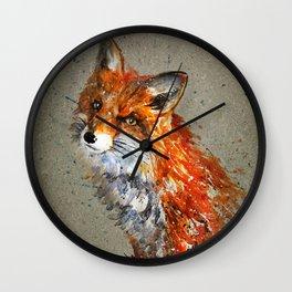 Fox background Wall Clock
