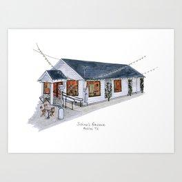 The Austin Collection: Justine's Brasserie  Art Print