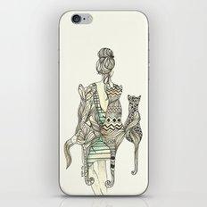 animalia cat iPhone & iPod Skin