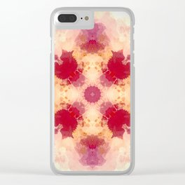 Decorative Pastel Rose blush Abstract Clear iPhone Case