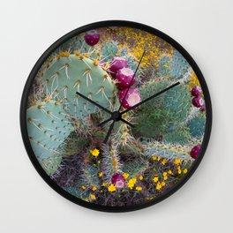 Cactus Bouquet Wall Clock