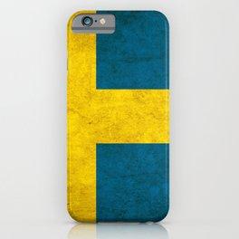 Sweden flag, circle iPhone Case