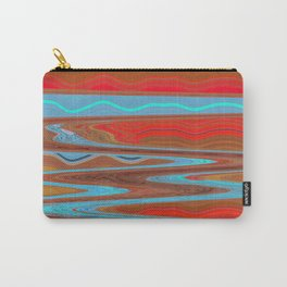 Abstract Retro Lava Water Deep Earth Landscape Carry-All Pouch