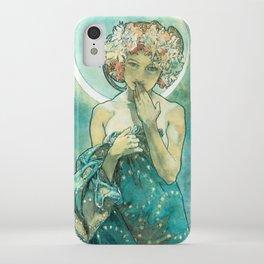 Alphonse Mucha Moonlight Art Nouveau iPhone Case