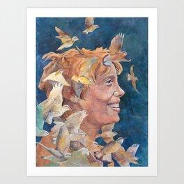 Women of Valor: Amelia Earhart Art Print
