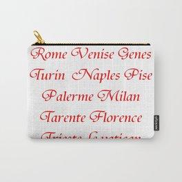 Italy's cities-Italy,Italia,Italian,Latine,Roma,venezia,venice,mediterreanean,Genoa,firenze Carry-All Pouch